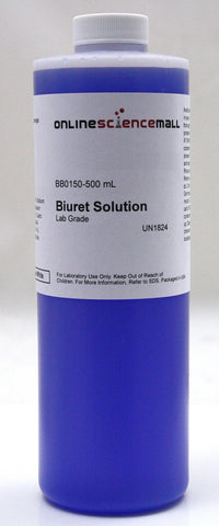 Biuret Reagent Solution, Protein Testing, 500mL - Lab Grade Chemical Reagent