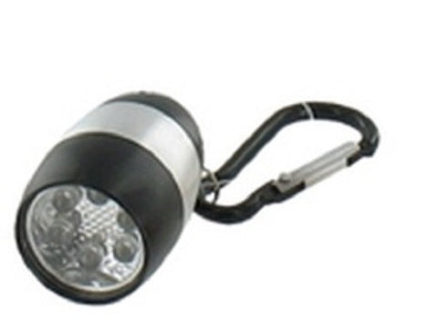 Metallic Black LED Nugget Mini Flashlight with Carabiner Clip