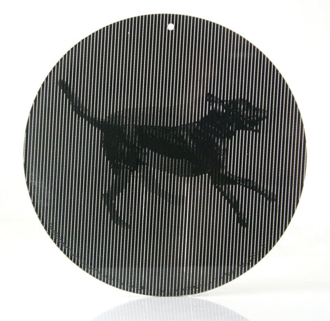5.5 Inch Loping Black Lab-CineSpinner-Animated Dog Suncatcher