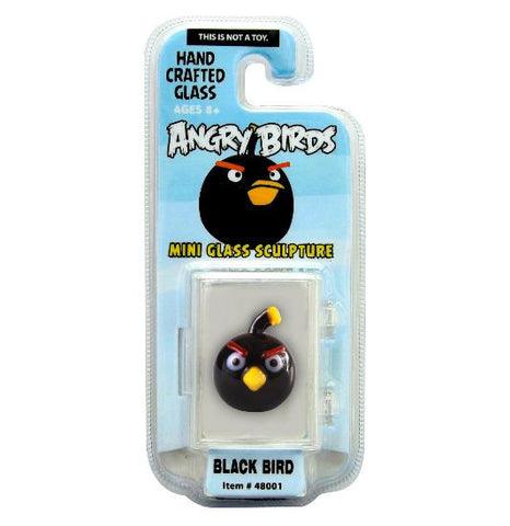 Looking Glass Torch Figurine Angry Birds Mini Black Bird-Limited Edition
