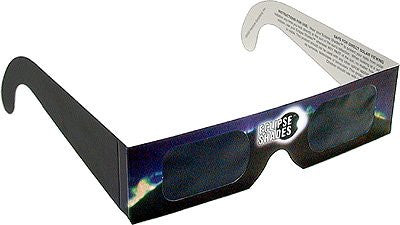 Eclipse Glasses - Solar Eclipse CE Certified  Safe Shades - Black Frame - Pack of 5