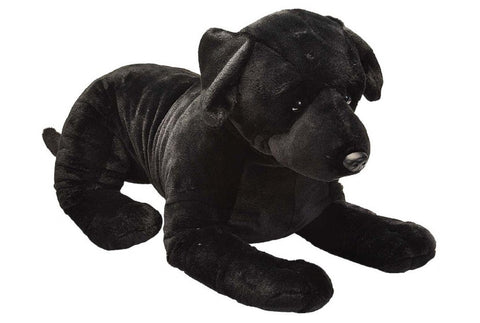 Plush Cuddlekins Jumbo Laying Black Labrador 30 Inch Puppy Dog