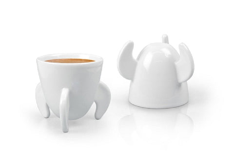 Blast Off! Espresso Cups - Pair of Coffee Mugs