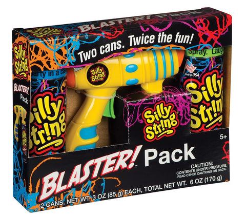 Silly String Blaster! Pack Spray Streamer w/2 Cans