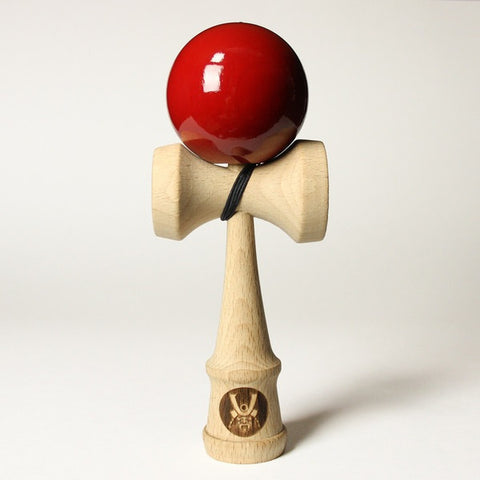 Samurai Kendama w/Blood Red Colored Ball, by Bushido Kendama