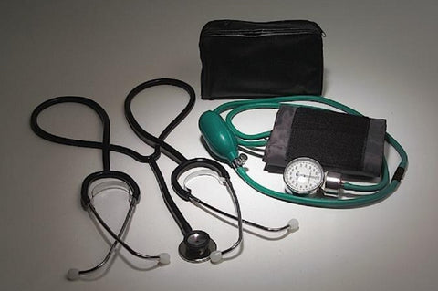 Student Blood Pressure Kit - Includes Teaching Stethoscope, Sphygmomanometer & Cuff