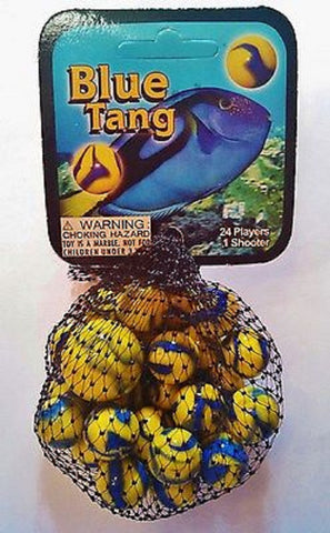 Blue Tang Game Net Set 25 Piece Glass Mega Marbles
