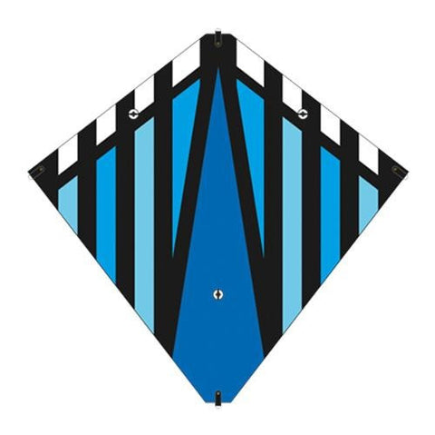 30 Inch X-Kites Blue Stunt Diamond Kite w/Double Handles & Line