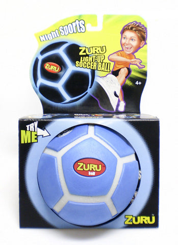 Night Sports Light-Up Soccer Ball/ Flashing Blue Glow By: Hedstrom Toys