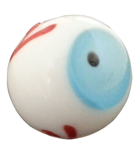"""Eyeball"" 20mm Handmade Art Glass Marbles Set of 3 w/Stands"