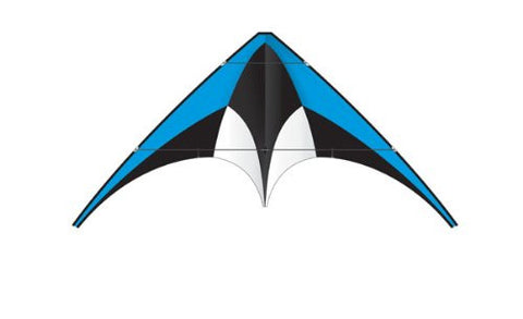 Blue X-Kite Nylon DC SPORT Stunt Kite - 5 Feet Wide - Dual Control