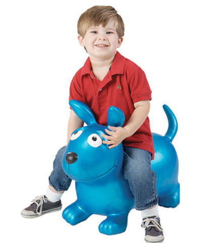 Wahoo Blue Inflatable Bouncy Toy from Marky Sparky