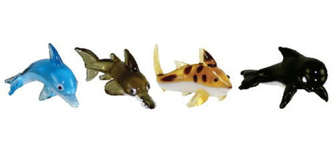 Looking Glass Torch - Ocean Figurines -Dolphin, SawFish, Shark & Whale (4-Pack)