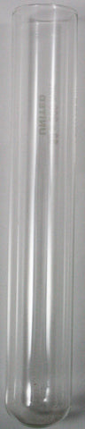 Borosilicate Glass Test Tubes without Rim, 38x200mm Pk of 50, with Cork Stoppers
