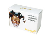 Levenhuk Broadway 325N Opera Glasses, with Gold Lorgnette and LED light