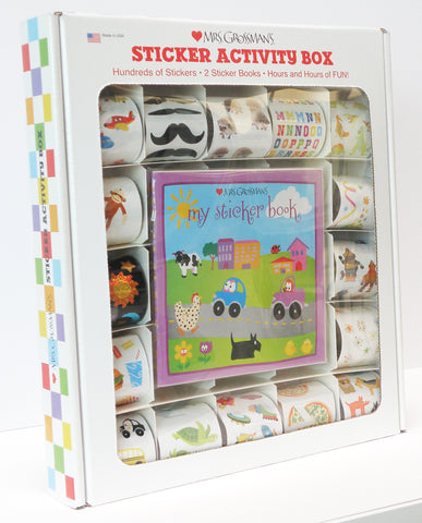 Mrs Grossman's Activity Box - Hundreds of Stickers - Animals - Robots - Vehicles & More!