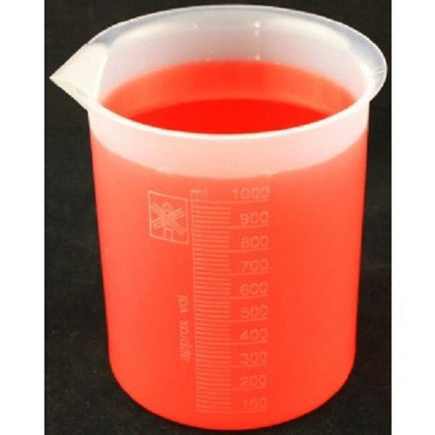 1000mL Polypropylene Graduated Beaker w/Spout - Online Science Mall