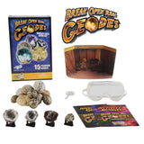 Worlds Best Break Open Real Geodes Kit w 15 Premium Specimens