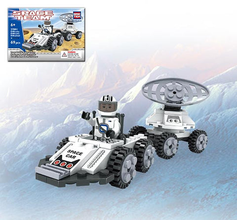Brictek Outer Space Lunar Space Car 69 Pieces
