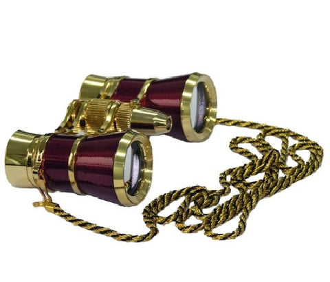 Levenhuk Broadway 325F Opera Glasses Red with LED Light and Chain