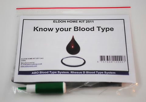 Blood Typing Test Kit EldonCard