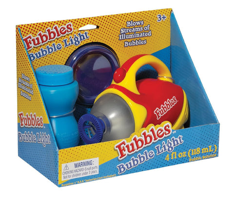 Fubbles Bubble Light & Bubble Blower by Little Kids - Colors Vary