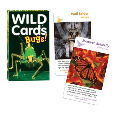 Wild Cards:BUGS! 3 Games In One Insect  Deck