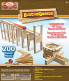 200pc Wooden Building Boards Block Construction Set