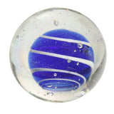 25mm Handmade Art Glass Bumble Bubble Marbles Set of 6 w/Stands