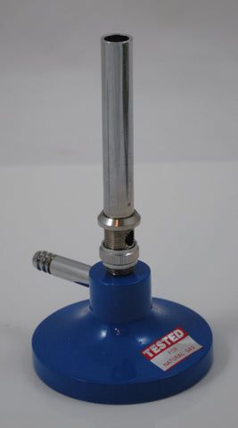Bunsen Burner, Natural Gas, Nickel Plated Brass