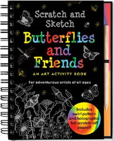 Scratch and Sketch Butterflies and Friends Art Activity Book