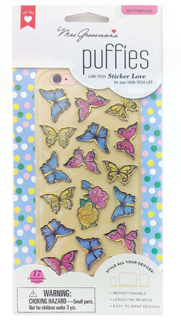 Mrs Grossman's Stickers - Butterflies Puffies