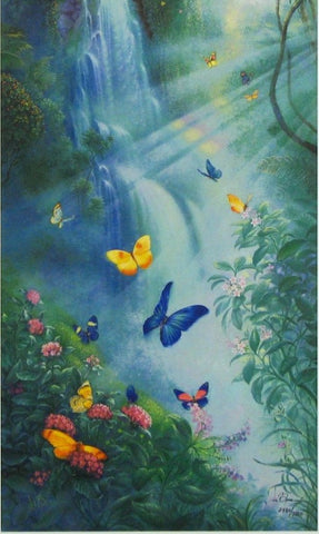 Butterflies in the Mist - Giant Jigsaw Puzzle - 3000 pc