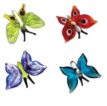Looking Glass Torch Figurines - Set of 4 Butterfly Figures