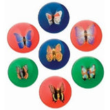 Six Hi-Bounce Butterfly Balls; Assorted Colors 2 Inch