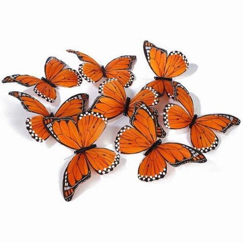 9 Piece Medium Sized Monarch Butterfly Garland