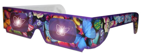 Holographic Butterfly Wild Eyes 3D Paper Glasses
