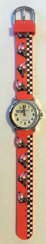 Solo Time Motor Cross Watch - Kids One Size Red Band