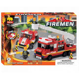 Fire Trucks Building Block Set - 336 Pieces