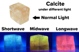 "1.25"" Pink Optical Calcite Rhomb -  Fluorescent Mineral Specimen - Small"