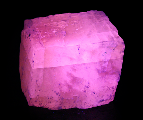 3 Inch Pink Calcite Rhomb (2800 Carat) -  Rough Fluorescent Mineral Specimen (F)