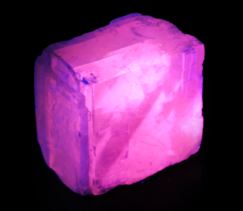2.25 Inch Pink Calcite Rhomb (1500 Carat) -  Rough Fluorescent Mineral Specimen (H)