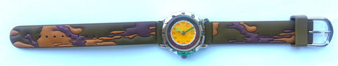 The Kids Watch Company Camo Watch One Size Green/Brown Band