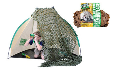 Field Brown Camouflage Netting for Kids - Backyard Safari Outfitters