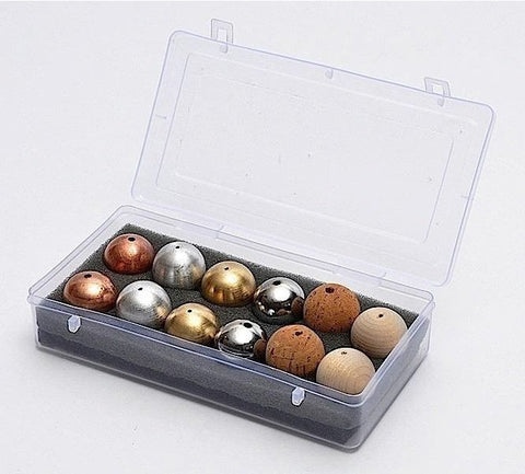 Drilled Ball Set of 12: 6 Different Composition 1 Inch Diameter Balls