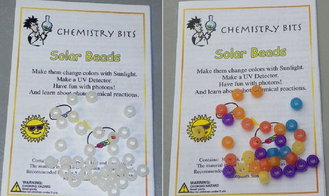 Solar Beads UV Experiment Chemistry Bits Kit