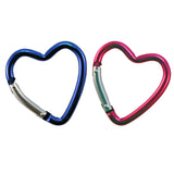 Key Carabiner - Set of Three Heart Shaped in Pink & Blue