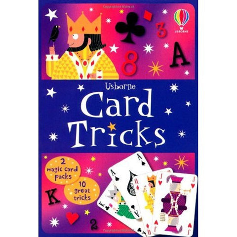 Usborne Books: Card Tricks Tin-2 Packs of Cards-10 Tricks