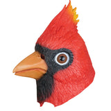 Latex Cardinal Bird Mask - Halloween Costume