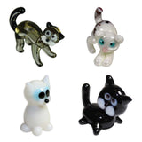 Looking Glass Torch - Feline Figurines - Black, White, Kitty & ScatCat (4-Pack)